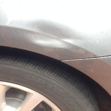 Dent Caused By Pole